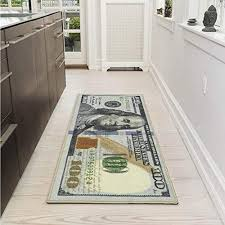 Image Ideas Ottomanson New Rugs One Hundred Dollar 100 Bill Print New Benjamin Nonslip Amazoncom Cool Things For Home Amazoncom