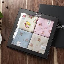 cool pa handkerchief cotton handkerchief lady handkerchief gift set fl plain printed handkerchief cotton