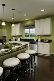 kitchens with white cabinets and green walls. White Kitchen Cabinets. Photo Source: Superbcook.com Kitchens With Cabinets And Green Walls