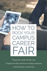 How To Rock Your Campus Career Fair Signed Logan