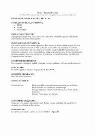 Work History Resume Example Resume Work History Format Luxury Example Resume Format For Job 23