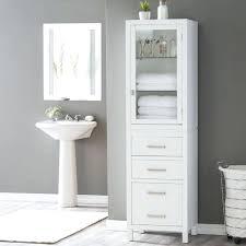 glass door bathroom cabinet modern white bathroom storage tower for towel with glass door bathroom cabinet