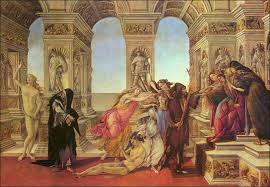 calumny of apelles sandro botticelli oil painting reions and prints