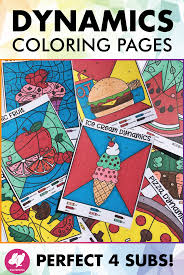 Color By Dynamics Music Coloring Pages Music Dynamics Worksheets