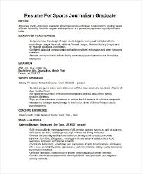 Journalist Resume Resume Sample