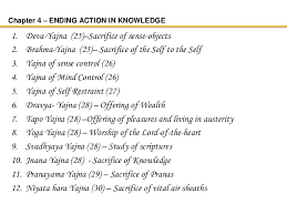 chapter ending action in knowledge deva yajna  bhagavad gita