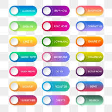Website Buttons Png Vector Psd And Clipart With