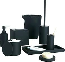 Black And White Toile Bathroom Accessories Black And White Bathroom