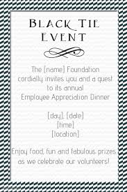 Black Tie Event Small Business Invitation Flyer Poster Template