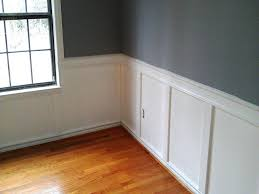 wainscoting panels diy up stairs mdf