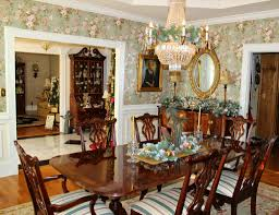 incredible luxury dining room decors with crystal chandelier over dining room table centerpieces with wall mount mirror hang on wallpaper dining room decors