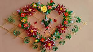 diy paper quilling beautiful heart shaped wall hanging for room decor ideas paper quilling art