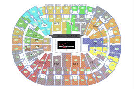 Uva Basketball Seating Chart Acc Tournament Seating Chart Released Sports Channel 8
