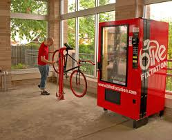 Bike Rental Vending Machines Custom Bike Fixtation A SelfService Bike Repair Station