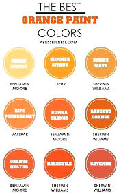 Shades Of Orange Color Chart Benjamin Moore Orange Compelo Co