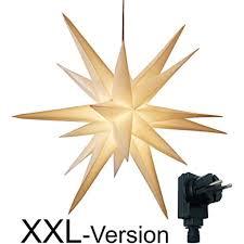 Xxl ø 100 Cm 3d Leuchtstern Mit Warm Weißer Led Beleuchtung