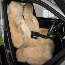 sheepskin seat cover for cars honey color