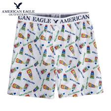 American Eagle American Eagle Regular Article Men Underwear Ae Sun Protection Boxer 0220 4534 White D30s40
