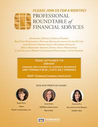 professional roundtable of financial services profs kick off session