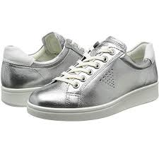 ecco women s comfortable sneaker real leather soft 4 true navy white droid silver sanitariaweb