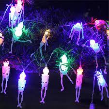 Outdoor Skull Lights Amazon Com Chenjbo 20leds Skull Lights Halloween Decoration