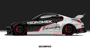 Side view jdm car drawings. Side View Japanese Cars Render Jdm Sports Car Nissan 350z Edc Graphics Nissan Walldevil