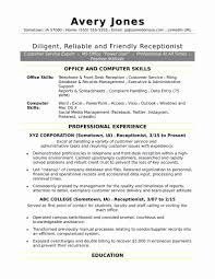 Receptionist Resume Sample Elegant Best Resume Template Gallery