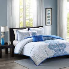 intelligent design avani comforter set blue