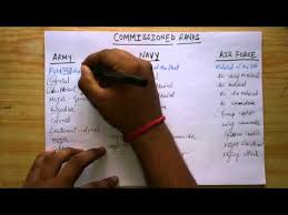 Indian Army Rank Structure Chart Adi Trick To Remember Ranks Of Army Navy Airforce In