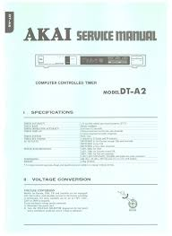 dt a2 akai service manual highqualitymanuals com