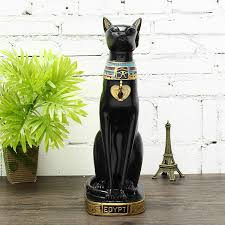 15 винтаж египетский бастет кот статуэтка из богини смолы черная кот статуэтки