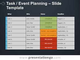 Planning A Presentation Template Task Event Planning For Powerpoint And Google Slides