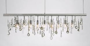 modern linear chandelier crystal linear suspension by nuevo living hgml158