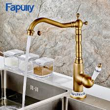 aliexpress com buy fapully kitchen sink faucet deck mount