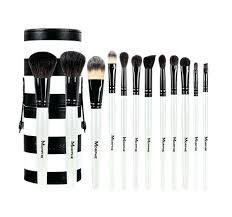 plete makeup brush sets set piece black and white travel set professional makeup brush sets best