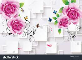3d Pink Rose Flowers Design Wallpaper ...