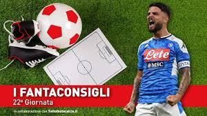 Consigli fantacalcio – 22° Giornata Serie A 2019/2020 ...