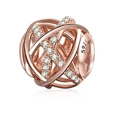 SOUKISS Rose Gold Galaxy Charm <b>Authentic 925 Sterling Silver</b> ...