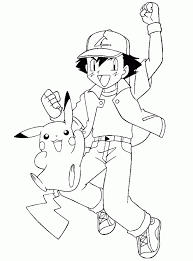 Small Picture Pokemon Coloring Pages Pikachu Pokemon Black And White Coloring