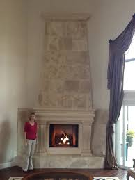 a beautiful custom claire stone fireplace mantel and overmantel in one of our customer s homes