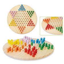 wooka chinese checkers game set with wooden pegs 11 inches board hand crafted