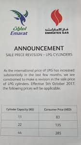Lpg Cylinder Prices To Increase In Uae News Khaleej Times