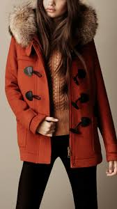 burberry fur trim hooded duffle coat 38241551 001 iluxdb