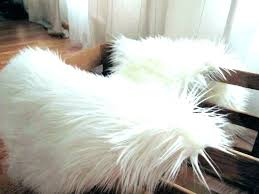 white faux fur rug 8x10 fake animal skin rugs gray faux fur rug area small white