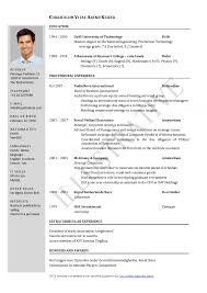 resume format for word standard template demo file full download