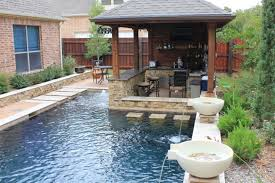 Swimming Pool With Waterfall And Water Fountain For Fascinating