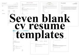 Free Resume Templates And Printing Inspiration Free Resume Downloadable Templates Seven Blank Cv Resume Templates