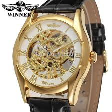 online buy whole watch company men from watch company wrg8050m3g2 latest winner mechanical skeleton men watch gift box black leather strap factory company