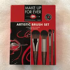 make up for ever artistic brush set travel brushes