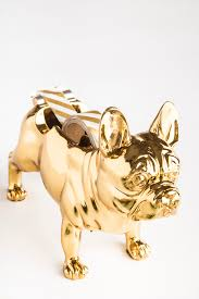 gold french bulldog tape dispenser with gold washi tape desk accessories for dog